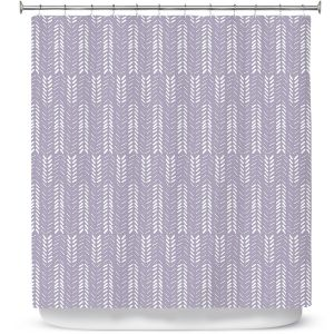 Unique Shower Curtain 69w x 72h inches from DiaNoche Designs by Metka Hiti - Southwest Arrows Purple