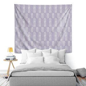 Artistic Wall Tapestry   Metka Hiti - Southwest Arrows Purple
