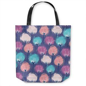 Unique Shoulder Bag Tote Bags | Metka Hiti - Spray Flowers | Floral nature pattern pastel repetition