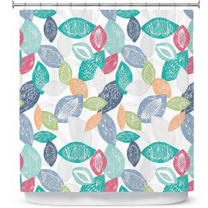 Premium Shower Curtains | Metka Hiti - Spring Happy Leafs