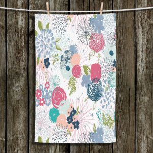 Unique Hanging Tea Towels | Metka Hiti - Spring Time | Flowers Butterflies