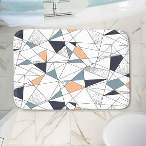 Decorative Bathroom Mats | Metka Hiti - Strait Lines | Abstract pattern nature graphic straight triangle