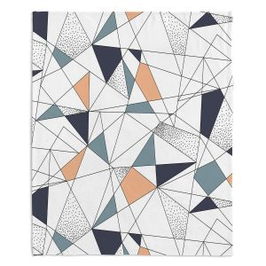 Artistic Sherpa Pile Blankets | Metka Hiti - Strait Lines | Abstract pattern nature graphic straight triangle