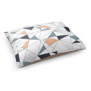 Decorative Dog Pet Beds   Metka Hiti - Strait Lines   Abstract pattern nature graphic straight triangle