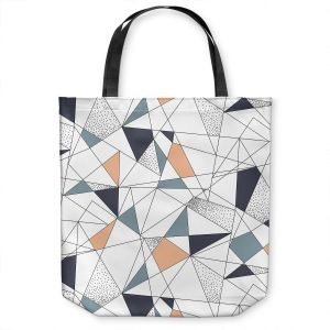 Unique Shoulder Bag Tote Bags | Metka Hiti - Strait Lines | Abstract pattern nature graphic straight triangle