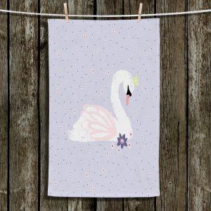 Unique Bathroom Towels   Metka Hiti - Swan 1 Light Puple   Natue bird lake
