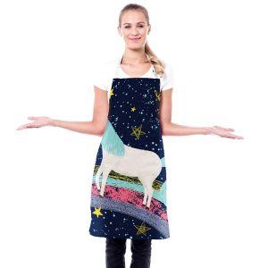 Artistic Bakers Aprons   Metka Hiti - Unicorn Dreams Rainbow   Rainbow Fantasy Space Stars