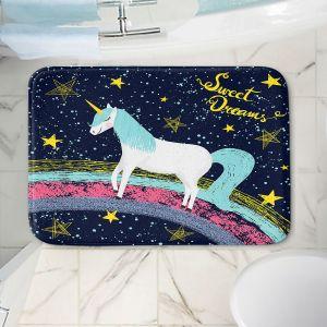 Decorative Bathroom Mats   Metka Hiti - Unicorn Dreams Rainbow   Rainbow Fantasy Space Stars