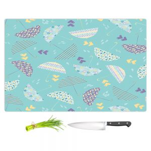 Artistic Kitchen Bar Cutting Boards   Metka Hiti - Weather Report Umbrellas   Water rain pattern nature repetition cute