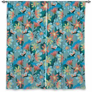 Decorative Window Treatments | Metka Hiti - Whimsical Flowers | Nature Flowers Patterns