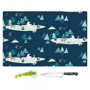Artistic Kitchen Bar Cutting Boards | Metka Hiti - Wildlife Night Ice Skating l
