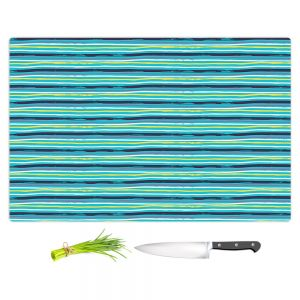 Artistic Kitchen Bar Cutting Boards | Metka Hiti - Woodland Stripe | Lines pattern graphic