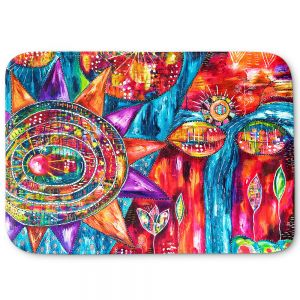 Decorative Bathroom Mats | Michele Fauss - Revive | Abstract pattern shapes flower