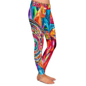 Casual Comfortable Leggings | Michele Fauss - Revive | Abstract pattern shapes flower