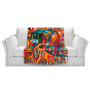 Unique Sherpa Blankets from DiaNoche Designs by Michele Fauss - Abstract Elephant