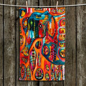 Unique Bathroom Towels   Michele Fauss - Abstract Elephant