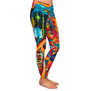 Casual Comfortable Leggings | Michele Fauss Abstract Elephant