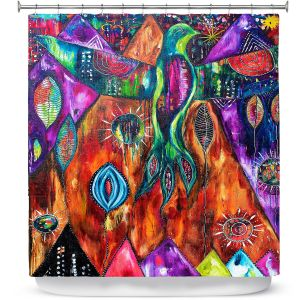 Premium Shower Curtains | Michele Fauss - And Then She Was Free