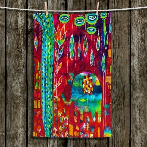 Unique Hanging Tea Towels | Michele Fauss - Elephants Eden | Elephant