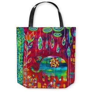 Unique Shoulder Bag Tote Bags | Michele Fauss Elephants Eden