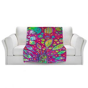 Artistic Sherpa Pile Blankets | Michele Fauss Flower Power