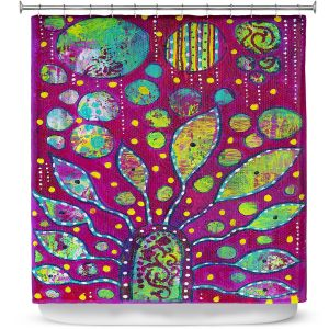 Unique Shower Curtain from DiaNoche Designs by Michele Fauss - Flower Power