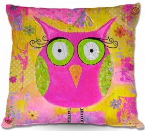 Decorative Outdoor Patio Pillow Cushion | Michele Fauss - Hootie the Owl