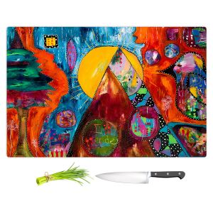 Artistic Kitchen Bar Cutting Boards   Michele Fauss - I Surrender   abstract landscape tree mountain