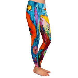 Casual Comfortable Leggings | Michele Fauss - I Surrender | abstract landscape tree mountain