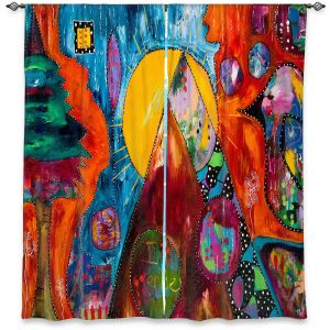 Decorative Window Treatments | Michele Fauss - I Surrender | abstract landscape tree mountain