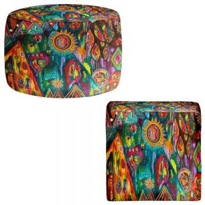 Round and Square Ottoman Foot Stools | Michele Fauss - Magic Mountain