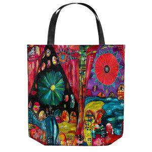 Unique Shoulder Bag Tote Bags | Michele Fauss - River Flow | Abstract Design