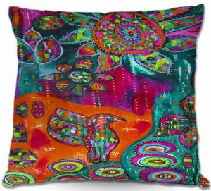 Decorative Outdoor Patio Pillow Cushion | Michele Fauss - Spring Forth