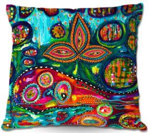 Decorative Outdoor Patio Pillow Cushion | Michele Fauss - Whale Wonderland