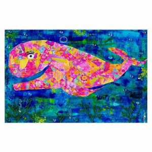 Decorative Area Rug 4 x 6 Ft from DiaNoche Designs by Michele Fauss - Wilma the Whale
