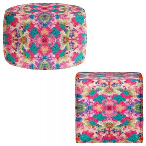 Round and Square Ottoman Foot Stools | Nika Martinez - Bella Flora
