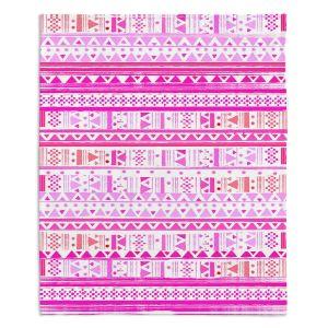 Artistic Sherpa Pile Blankets | Nika Martinez Ethnic Bandana II