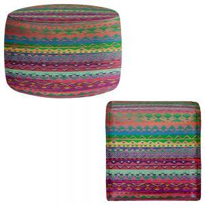 Round and Square Ottoman Foot Stools | Nika Martinez - Ethnic Brazalet