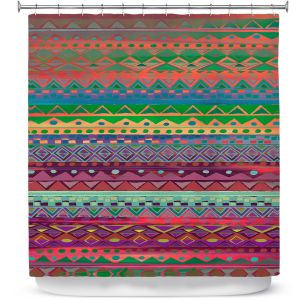 Premium Shower Curtains | Nika Martinez Ethnic Brazalet