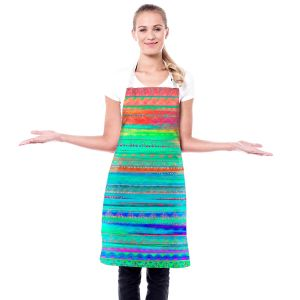 Artistic Bakers Aprons | Nika Martinez - Ethnic Sunset | Abstract Patterns