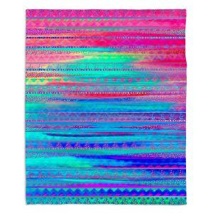 Decorative Fleece Throw Blankets | Nika Martinez - Ethnic Twilight