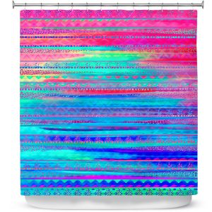 Premium Shower Curtains | Nika Martinez Ethnic Twilight