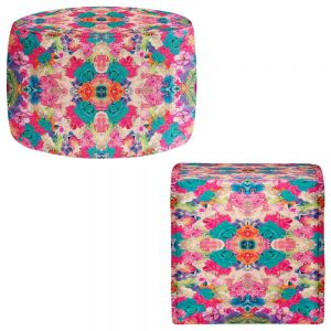 Round and Square Ottoman Foot Stools | Nika Martinez - Florabella