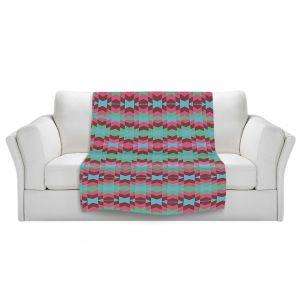 Artistic Sherpa Pile Blankets | Nika Martinez Flor de Luna