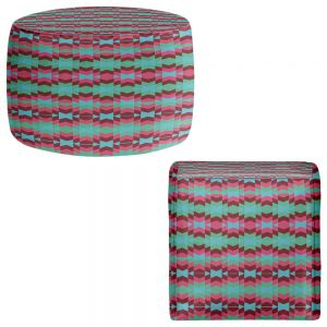 Round and Square Ottoman Foot Stools | Nika Martinez - Flor de Luna