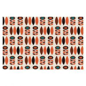 Decorative Floor Coverings | Nika Martinez - Mid Century Autumn Floral