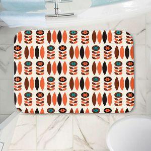 Decorative Bathroom Mats | Nika Martinez - Mid Century Autumn Floral