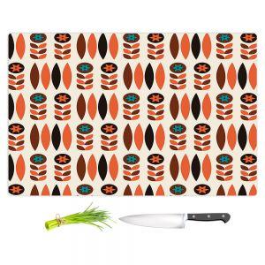 Artistic Kitchen Bar Cutting Boards | Nika Martinez - Mid Century Autumn Floral