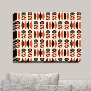 Decorative Canvas Wall Art | Nika Martinez - Mid Century Autumn Floral | Patterns