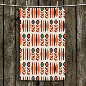 Unique Bathroom Towels | Nika Martinez - Mid Century Autumn Floral
